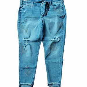 Lane Bryant midrise stretch skinny ankle jeans